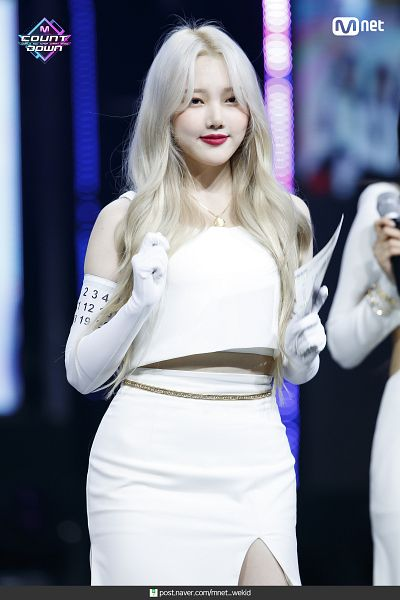 Tags: K-Pop, Television Show, G-friend, Jung Yerin, Sleeveless, Long Gloves, Sleeveless Shirt, Necklace, White Gloves, Gloves, Bare Shoulders, Skirt