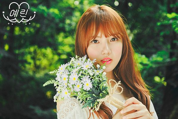 Tags: K-Pop, G-friend, Jung Yerin, White Flower, Tree, Bouquet, Serious, White Outfit, Plant, White Dress, Flower, LOL