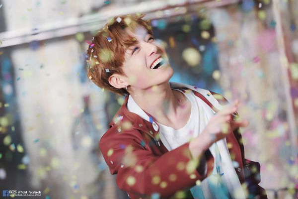 Tags: K-Pop, BTS, Jungkook, Red Outerwear, Confetti, Red Jacket, Laughing, You Never Walk Alone, Wallpaper, Facebook