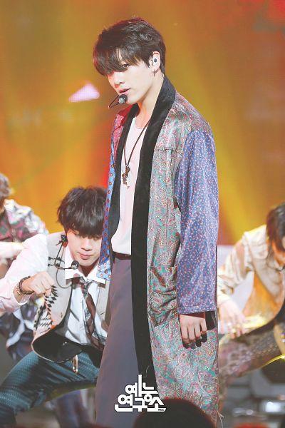 Tags: Television Show, K-Pop, BTS, Airplane pt.2, Jin, Jungkook, Park Jimin, Quartet, Coat, Singing, Korean Text, One Eye Showing