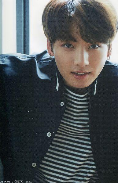 Tags: K-Pop, Bangtan Boys, Jungkook, Black Shirt, Striped, Window, Black Eyes, Striped Shirt, Anan Magazine, Magazine Scan