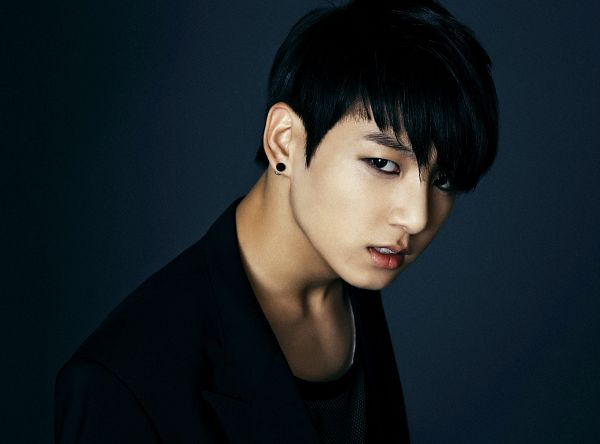Tags: K-Pop, Bangtan Boys, Jungkook, Black Outfit, Earrings, Dark & Wild, Wallpaper