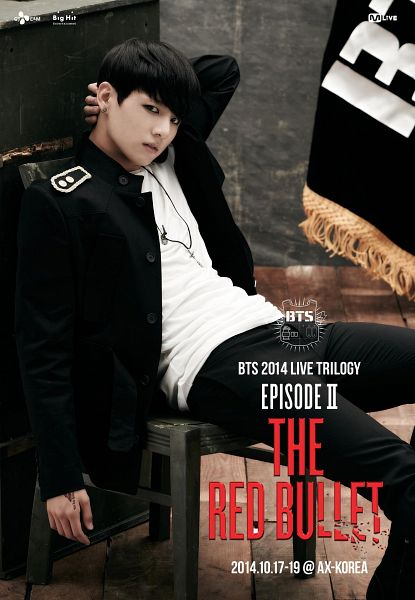 Tags: K-Pop, BTS, Jungkook, Sitting On Chair, Black Outerwear, Necklace, Tattoo, Black Pants, Chair, Black Jacket, Flag, Black Eyes