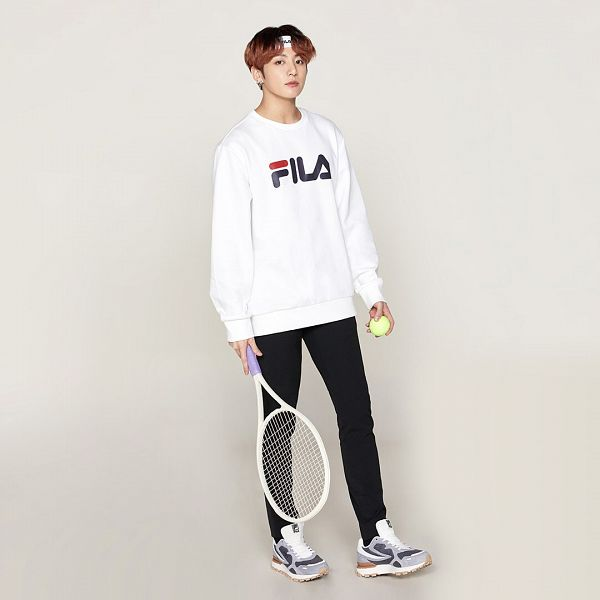 Tags: K-Pop, BTS, Jungkook, Sneakers, Tennis Racket, Shoes, Holding Object, Tennis Ball, Black Eyes, Tennis, Black Pants, Ball