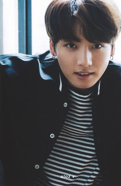 Tags: K-Pop, BTS, Jungkook, Black Eyes, Window, Striped, Striped Shirt, Anan Magazine, Magazine Scan