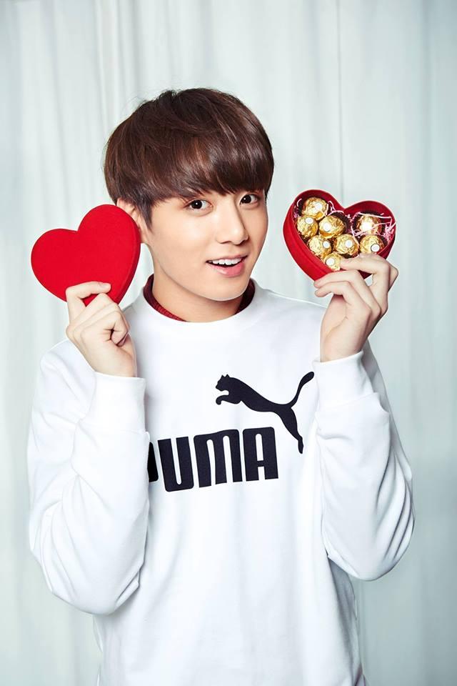 Tags: K-Pop, BTS, Jungkook, Black Eyes, Sweets, Chocolate, Puma