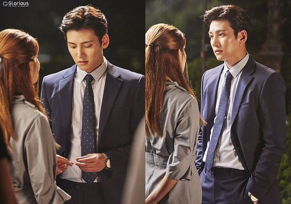 Tags: Glorious Entertainment, K-Drama, Ji Chang-wook, Nam Ji-hyun, Hand In Pocket, Collage, Text: Company Name, Suit, Tie