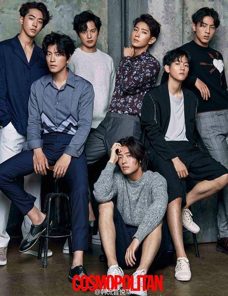 Tags: K-Drama, EXO, Yoon Sun-woo, Kang Ha-neul, Hong Jong-hyun, Nam Joo-hyuk, Byun Baekhyun, Ji Soo, Lee Jun-ki, Group, Blue Shirt, Chair