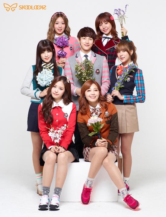 Tags: K-Pop, ZE:A, Apink, Im Siwan, Kim Nam-joo, Oh Ha-young, Son Na-eun, Yoon Bo-mi, Park Cho-rong, Jung Eun-ji, Text: Brand Name, Blue Flower