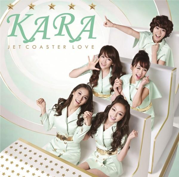 Tags: K-Pop, KARA, Jet Coaster Love, Gyuri Park, Jiyoung Kang, Nicole Jung, Seungyeon Han, Hara Goo, Pointing, Looking Up, Wavy Hair, Quintet