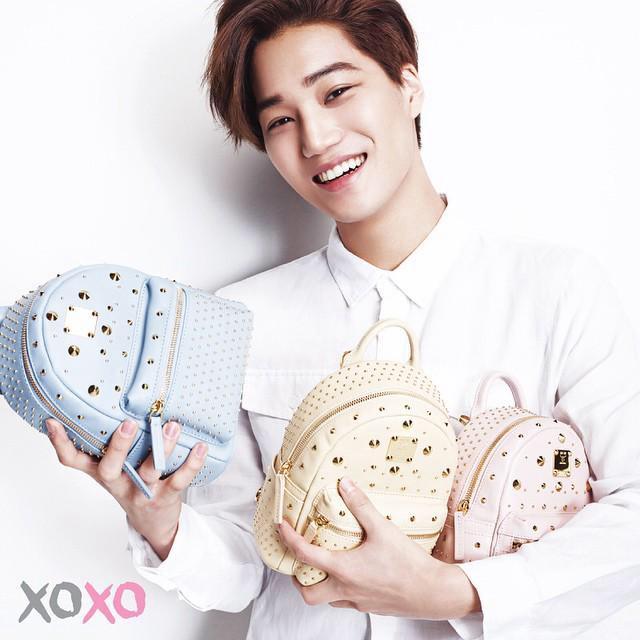 Tags: K-Pop, EXO, Kai, Bag, Light Background, White Background, MCM, Scan