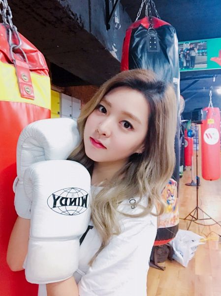 Tags: K-Pop, Berry Good, Kang Sehyung, Boxing Gloves, Gloves, Black Eyes