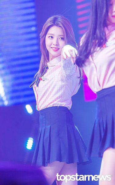 Tags: K-Pop, Berry Good, Kang Sehyung, Skirt, Facial Mark, Dancing, Mole, Black Skirt, Pink Shirt, Microphone, One Arm Up, Android/iPhone Wallpaper
