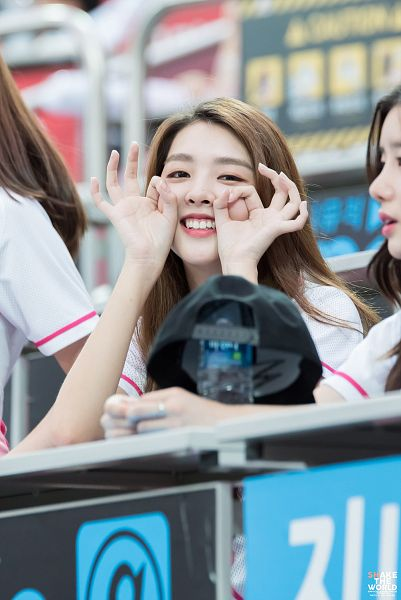 Tags: K-Pop, Berry Good, Kang Sehyung, Hat, Bottle, Teeth, Table, Bent Knees, Grin, Short Sleeves, Sitting