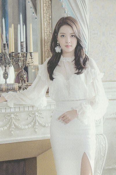 Tags: K-Pop, Berry Good, Berry Good Heart Heart, Crazy Gone Crazy, Kang Sehyung, Chandelier, Earrings, Glass, Fireplace, Candle, White Outfit, White Dress