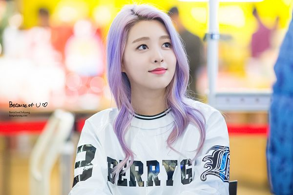 Tags: K-Pop, Berry Good, Kang Sehyung, Purple Hair, Looking Up