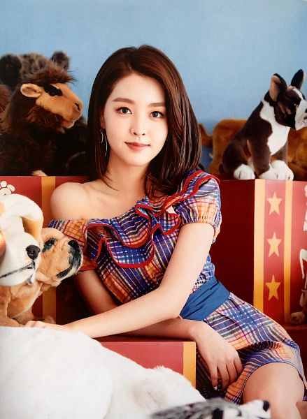 Tags: K-Pop, Berry Good, Kang Sehyung, Stuffed Toy, Stuffed Animal, Short Sleeves, Plaided Print, Belt, Plaided Dress, Fantastic, Scan