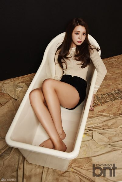 Tags: K-Pop, Berry Good, Kang Sehyung, Text: Magazine Name, White Background, Bathtub, Bathroom, Light Background, International Bnt, Magazine Scan
