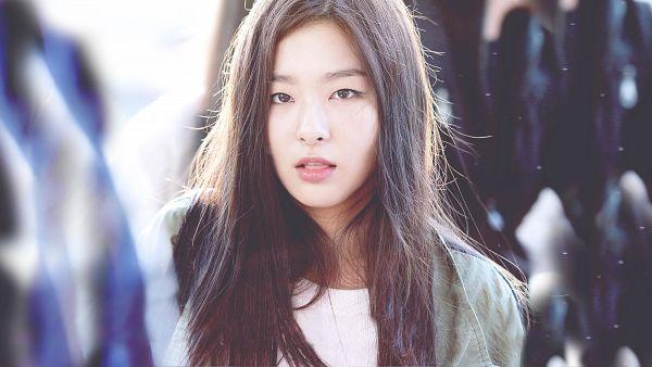 Tags: K-Pop, Red Velvet, Kang Seul-gi, Green Outerwear, Tongue, Wallpaper, HD Wallpaper