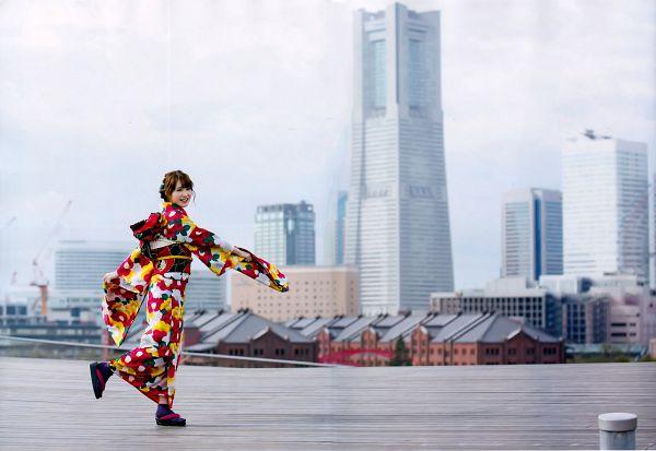 Tags: J-Pop, Keyakizaka46, Kato Shiho, Hair Up, Blunt Bangs, Kimono, Traditional Clothes, Multi-colored Dress, Wide Sleeves, Tokyo News Mook, Scan, Magazine Scan
