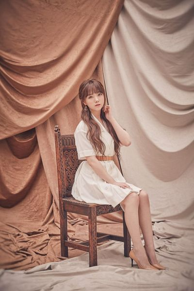 Tags: K-Pop, Lovelyz, Kei, White Outfit, White Dress, Sitting On Chair, Chair, Heal, Scan