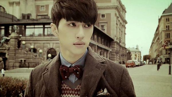 Tags: K-Pop, VIXX, Ken, Vest, Looking Away, Blue Shirt, Bow Tie, Gray Outerwear, Gray Jacket, Wallpaper