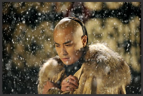 Tags: C-Drama, Kevin Cheng, Looking Down, Fur, Cape, Chinese Clothes, Fur Trim, Traditional Clothes, Partially Bald, Snow, Looking Ahead, Scarlet Heart