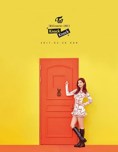 Tags: JYP Entertainment, K-Pop, Twice, Kim Dahyun, Text: Artist Name, Text: Album Name, Text: Song Title, Text: Calendar Date, Twicecoaster: Lane 2, Android/iPhone Wallpaper