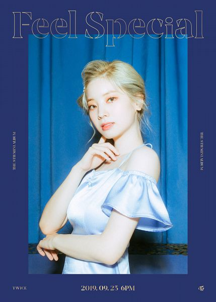 Tags: K-Pop, Twice, Kim Dahyun, Text: Artist Name, Text: Album Name, Text: Calendar Date, English Text, Feel Special, Twitter
