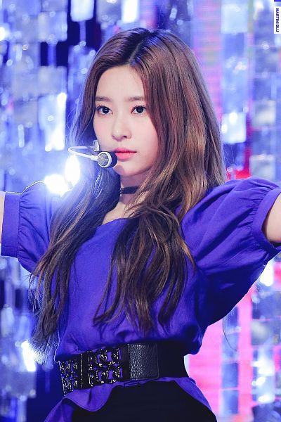 Tags: K-Pop, IZ*ONE, Kim Minju, Purple Hair, Belt