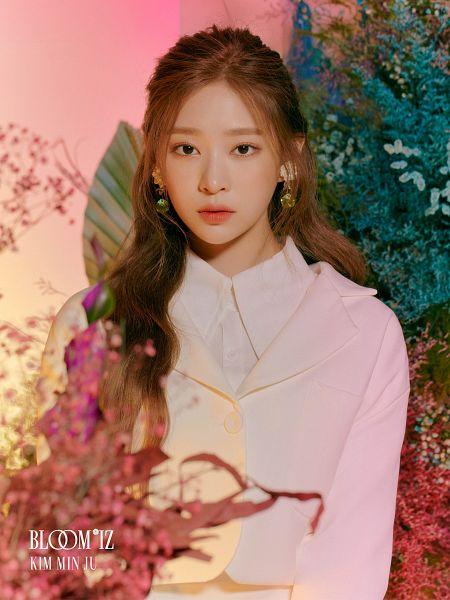 Tags: K-Pop, IZ*ONE, Kim Minju, Text: Album Name, Serious, Plant, Black Eyes, Text: Artist Name