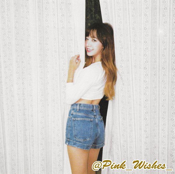 Tags: K-Pop, Apink, Kim Nam-joo, Curtain, Denim Shorts, Shorts, Jeans, Gray Eyes, Blue Shorts, Dear