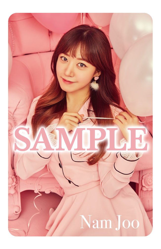 Tags: J-Pop, K-Pop, Apink, Bye Bye, Kim Nam-joo, Pink Outfit, Earrings, Text: Artist Name, Red Hair, Pink Dress, Text, Dress