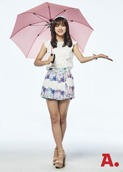 Tags: K-Pop, Gugudan, Kim Sejeong, Crossed Legs (Standing), Floral Print, Umbrella, Android/iPhone Wallpaper, Auction.