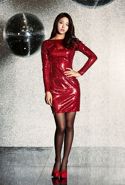 Tags: K-Pop, AOA (Ace Of Angels), Miniskirt (Song), Kim Seolhyun, Red Dress, Shoes, Red Footwear, Android/iPhone Wallpaper