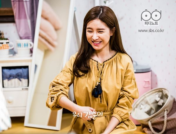 Tags: K-Drama, Kim So-eun, Eyes Closed, Mirror, Yellow Outfit, Yellow Dress, Glass, Grin, Our Gap-soon