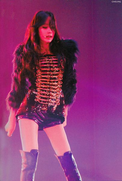 Tags: K-Pop, Girls' Generation, Kim Tae-yeon, Eyes Closed, Black Shorts, Pink Background, Shorts, Knee Boots, Black Jacket, Boots, Black Footwear, Android/iPhone Wallpaper