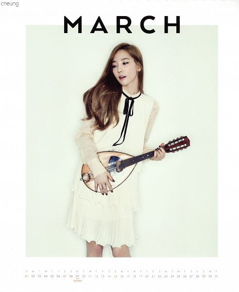 Tags: K-Pop, Girls' Generation, Kim Tae-yeon, Looking Away, White Border, Bare Legs, Light Background, Musical Instrument, White Background, Black Bow, White Dress, Playing Instrument