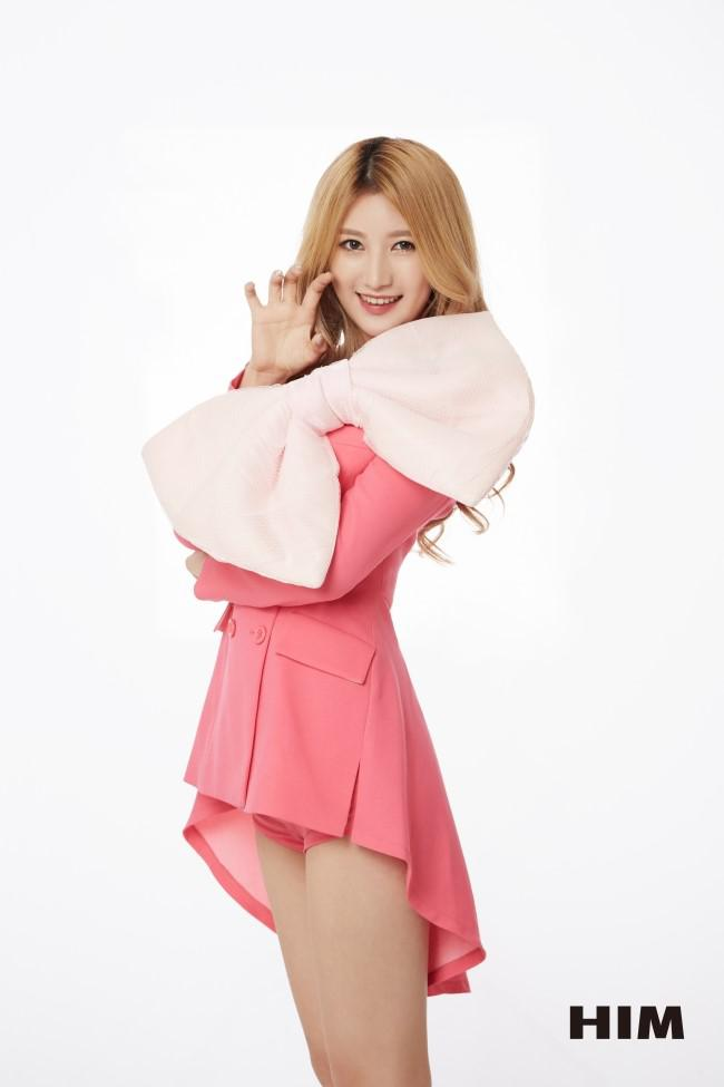 Tags: K-Pop, OhBliss, Kim Yeonjoo, Shorts, Pink Outfit, Bow, Light Background, Pink Shorts, White Background, Pink Outerwear, Pink Jacket, Him
