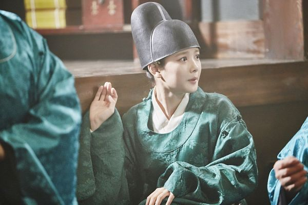 Tags: K-Drama, Kim Yoo-jung, Hat, Green Outfit, Traditional Clothes, Korean Clothes, Moonlight Drawn by Clouds