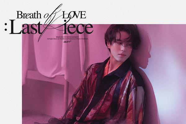 Tags: K-Pop, Got7, Kim Yugyeom, Text: Album Name, Serious, English Text, Shadow, Medium Hair, Breath Of Love: Last Piece