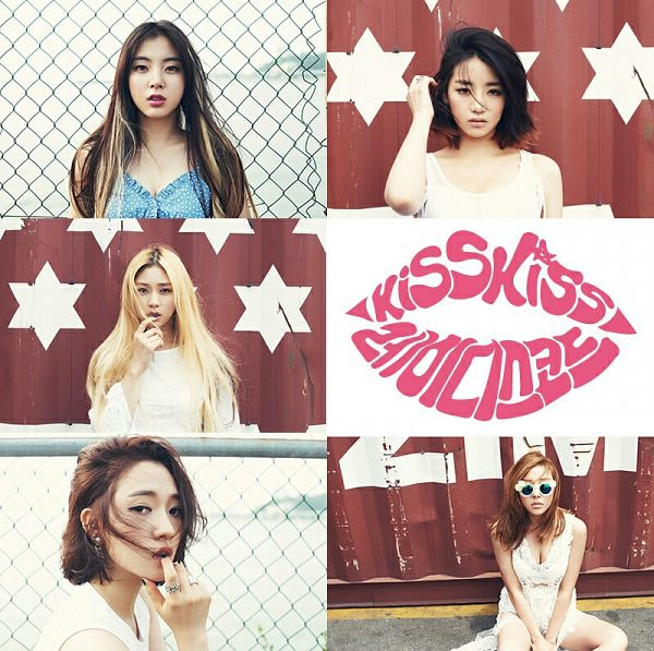 Tags: Ladies Code, Kiss Kiss, Lee So-jung, RiSe, Ashley, EunB, Zuny, Text: Song Title, Group, Full Group, Five Girls, Quintet