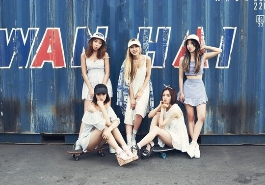 Tags: Ladies Code, Kiss Kiss, Zuny, Lee So-jung, RiSe, Ashley, EunB, Quintet, Group, Full Group, Five Girls