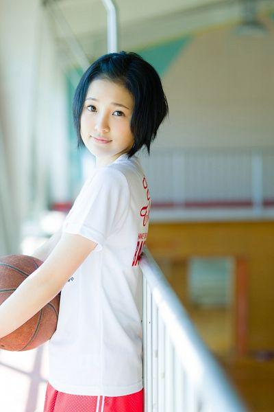 Tags: J-Pop, HKT48, AKB48, Kodama Haruka, Basketball Ball, Shorts, Red Shorts