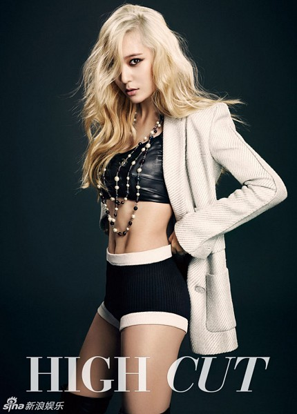 Tags: f(x), Krystal Jung, Blonde Hair, Navel