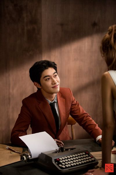 Tags: K-Drama, Kwak Dong-yeon, Short Hair, Typewriter, Looking At Another, Tie