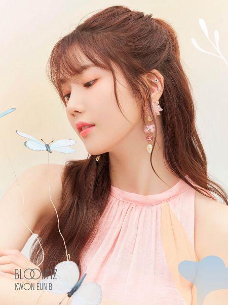 Tags: K-Pop, IZ*ONE, Kwon Eunbi, Text: Artist Name, Text: Album Name, Pink Shirt