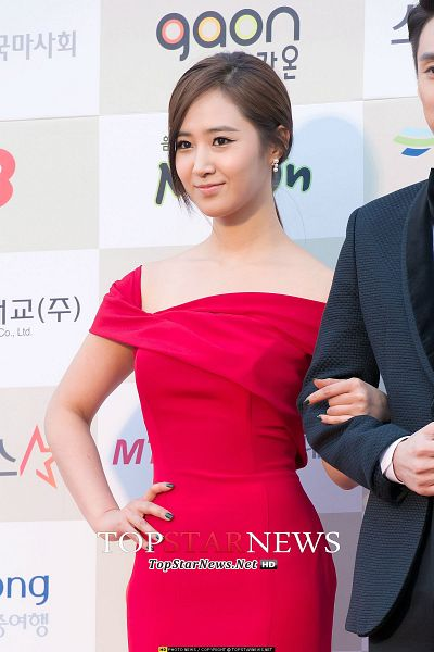 Tags: K-Pop, Girls' Generation, Kwon Yuri, Hand On Hip, Looking Ahead, Checkered Background, Nail Polish, Collarbone, Light Background, Bare Shoulders, Red Outfit, White Background