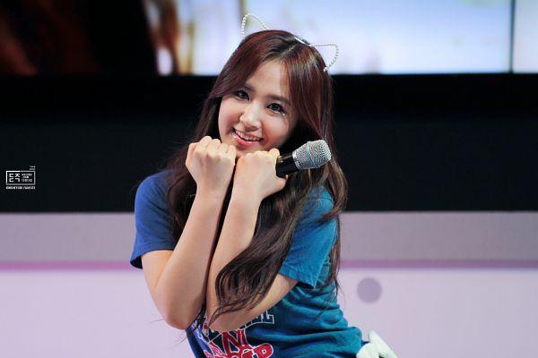 Tags: K-Pop, Girls' Generation, Dancing Queen, Kwon Yuri, Blue Shirt, Animal Ears, 891205com, Wallpaper