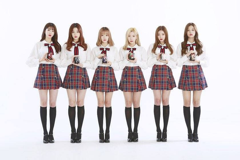 Tags: K-Pop, Laboum, ZN, Jung Soyeon, Kim Yulhee, Kim Yujeong, Yeom Haein, Ahn Solbin, Red Skirt, Bow, School Uniform, Black Footwear